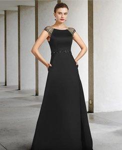 A-Line Mother of the Bride Dress Elegant Jewel Neck Floor Length Satin Sleeveless with Sash   Ribbon 2021 c098