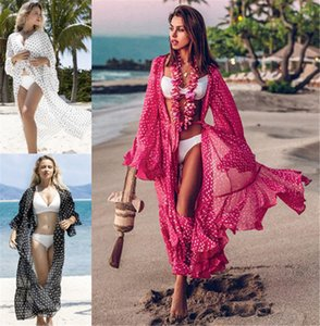 Collar Cover Up Cover Up Sleeve Kaftan Beach Tunic Dress Robe De Plage Solid White Cotton Pareo Beach High 2020 Women Swimsuit