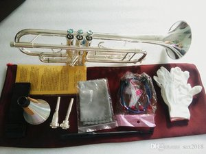 Silver Plated Bach Stradivarius Professional Bb Trumpet LT180S-43 Silver Plated Instrumentos Musicales Profesionales Mouthpiece