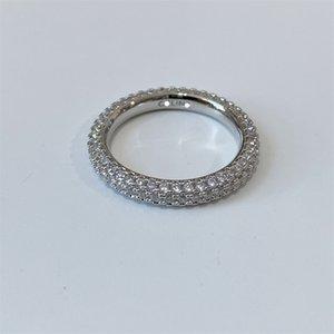 Full Diamond Ring Light Luxury Personality Fashion All-Match Temperament Simple Ins Niche Design Jewelry Accessories