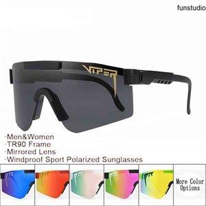Pit Viper Солнцезащитные очки Оптом и Drophopper TR90 Рама Зеркальные Линзы Ветерзащитные Спортивные Мужчины Женщина Поляризованные Солнцезащитные Очки с Упаковкой