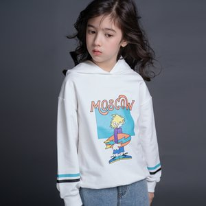 hooded 280g cotton Children's 2021 spring new leisure men's and women's cartoon single T sweater