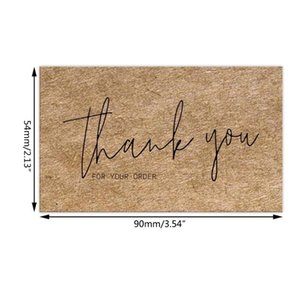 Greeting Cards 30pcs Natural Kraft Paper Thank You For Your Order Thanks Gift Decoration Appreciation Card Small