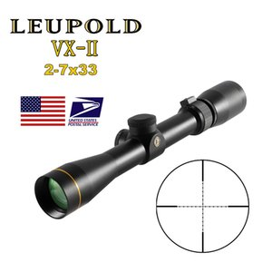 LEUPOLD VX-2 2-7x33 Mil Dot Scope Riflescopes Compact Rangefinder Hunting scopes Cross-Hair Reticle with 11 20mm mount