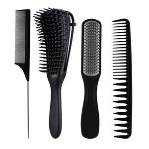 Detangling Hair Brush Brush Set Scalp Massagem Detangler Hairbrush para Acessórios de Barbeiro encaracolado Cuidados Ferramentas Ferramentas Escovas