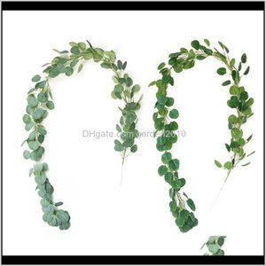 Decorative Flowers Wreaths 2M Artificial Eucalyptus Garland Hanging Rattan Wedding Greenery Party Backdrop Arch Wall Decor Nfxq0 Ywvic