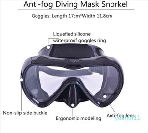 Wholesale-Professional Diving Mask Snorkel Water Sports Silicone Snorkeling Masks Anti-Fog Goggles Swimming Scuba Diving Mask Tube Set