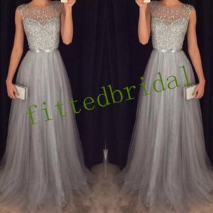 New arrival elegant lace dress evening dresses prom party zipper sleeveless formal long Classic scoop neck ball style