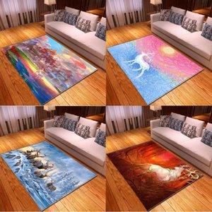 Carpets Color Painted Elk Balcony Prayer Mat Kitchen Carpet In The Living Room Kids Rug Anime Alfombra