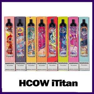 Hcow iTitan Rechargeable disposable vape pen Pod Device Kit E-cigarettes 5000 puffs Battery 650mah Bottom RGB Light 0268263-1
