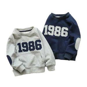 Vidmid Baby Boys T-shirt Tops Brand Quality Cotton Girl Clothes Kids Long Sleeve Children Coats P332 210529