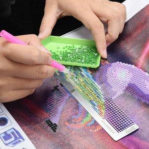 Régua de pintura de diamante de aço inoxidável Rhinestone Anti-Stick para DIY Acessório Sewing Bordado Patchwork Set Notions Tools