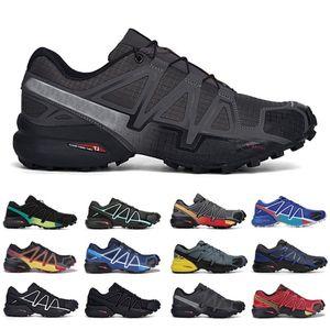 4 Üçlü Açık Siyah CS Hız Çapraz Erkek Koşu Ayakkabıları Speedcross 4 Runner IV Eğitmenler Erkekler Spor Sneakers Chaussures Zapatos Jogging