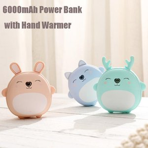 Cell Phone Repairing Tools Cartoon USB Portable 6000mAh Power Bank Charging Hand Warmers Rechargeable Charger Cute Gift For Girl Kid Lover