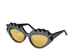 Summer Sunglasses For Women Cat Eye style 0178S Anti-Ultraviolet Retro Plate Plank With Diamond Full Frame fashion Eyeglasses Random Box