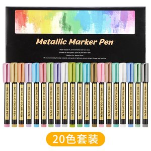 Marker Metal 8151 color paint note pen DIY photo album black card pen 10 color ceramic metal pen