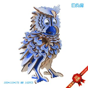 Owl Wooden Simulation Puzzle Animal Model Diy Children's Manual Assembly Steps Toy 388E730