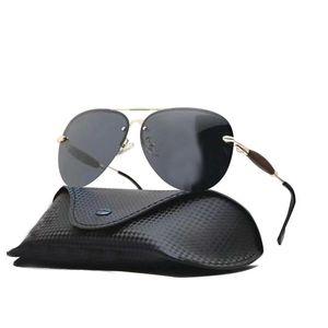 Luxury Designer Polarized Mens Sunglasses 2019 Tennis Metal Wrap Man Eyeglasses Sport Driver Pilot Men Sun glasses UV400 With Case