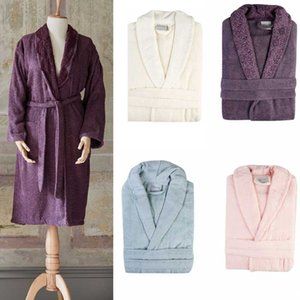 100% Cotton Long Thick Terry Absorbent Bath Robe Kimono LightWeight Towel Bathrobe Plus Man Women Dressing Gown Bridesmaid Robes Men's Sleep