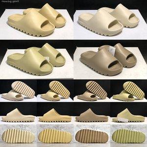 top qualité diapositive hommes femmes pantoufles résine os désert sable terre brun triple noir mode mode hommes femmes glissières 36-45