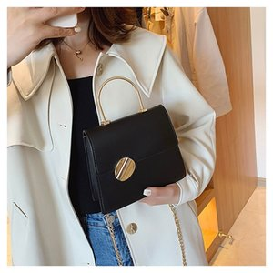 Straight city simple fresh portable texture solid Single Shoulder Messenger small square bag Girl