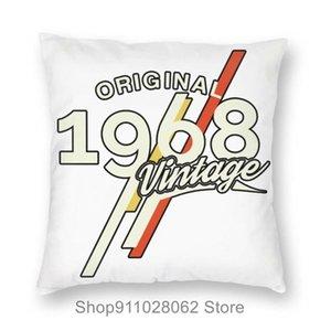 Cojín / almohada decorativa 1968 Classic 50 años de edad Cumpleaños Cumpleaños Cubiertas Casos de almohada de terciopelo Cojín Viajes My Otoño Queen Tamaño
