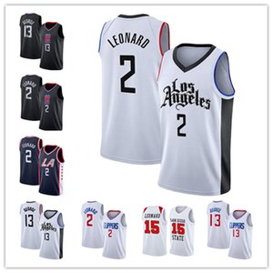 baju kaos Kawhi 2 Jersey Leonard Paul 13 George Jerseys Los Jersey Angeles City mens basketball Jerseys Edition-55