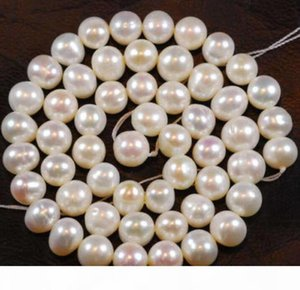 Wholesale 3 Strands 8-9MM White Freshwater Cultured Pearl Loose Beads 14.5