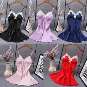 Men's and women's clothingSilk Hot Dress Sale Robe Summer Babydoll Women Nightdress Solid V-neck Sexy Lingerie Nightgown Sleepwear XHFF5K