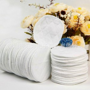 12pcs Reusable Nursing Breast Pads Washable Soft Absorbent Baby Breastfeeding Waterproof Breast Pads 3 layers Pure cotton A1A66 1486 Y2