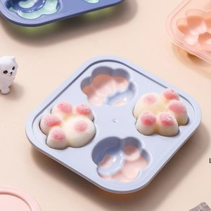 Baking Moulds Silicone Cat-pad Molds with Lid Chocolate Cake Handmake Mold Cube Tray Home Square Maker Bar Ice Cream Tools Kitchen DHA4892