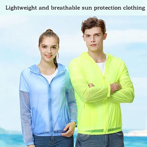 Güneş Koruma Giyim Erkekler ve Kadınlar Açık Nefes Anti-UV Atletik Gömlek Apparelcycling