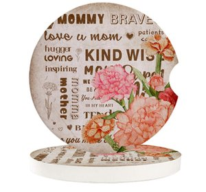 Table Runner Mothers Day Carnation Flowers Love Retro Car Cup Mat Contrast Mug Flower Teacup Pad For Home Decor Accessories