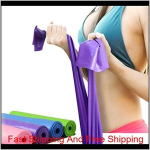 Bands Supplies Sports & Outdoors Drop Delivery 2021 Pilates Resistance Exercise Fitness Training Yoga Tension Belt Elastic Stretch Band 1200M