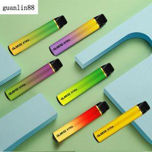 Original Glamee Xtra Disposable POD Device Disposable 1800Puffs Vape Pen 5.8ml Pods Cartridge Vapor 1200mAh e Cigarettes Vaporizers Empty