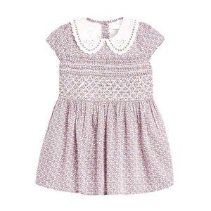 Little maven Summer Dress Floral Peter pan Girl Clothes Cotton Tunic Toddler Girls es Kids Clothing Princess 210915