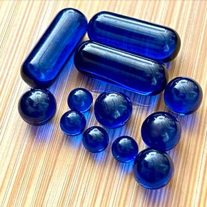 Sapphire Blue Spining Terp Pearl Pill Smoking Ball 4mm 6mm 8mm 6mm*15mm Spin dab Insert Bead for quartz banger Rig Nail Glass Bongs