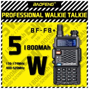 Walkie Talkie 2021 Baofeng BF-F8+ Upgrade 5W Display Two Way Car Radio Station Portable Ham For Hunting Dual Band