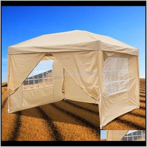 الظل 10x10 ft منبثقة حفل زفاف خيمة 3x للماء قابلة للطي شرفة جافيل مظلة تلبية مع النوافذ و 2 الأبواب hnqdf q0fjo