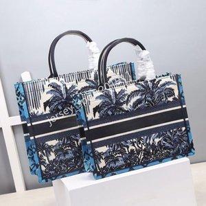 Kundengerechter Name Top Qualität Klassische bunte Buch Totes Bag Luxurys Designer Handtasche Gestickte Taschen Große Kapazität Reise Leinwand Shopping Handtaschen