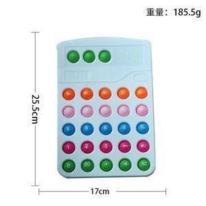 Multi colors calculator shape push bubble fidget toys poo-its sensory anti anxiety decompression Xmas adult kids children's stress relief finger toy G95DZ56