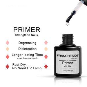 Nail Gel FRANCHESKA Three-piece Base Glue Manicure Primer Seal Desiccant Set Fast Dry No Need UV Lamp