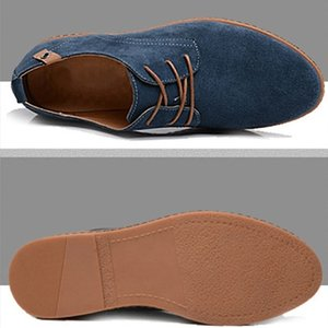 Men Top Quality Casual Oxfords Shoes Wing Tip Suede Leather Comfortable Wild Flats Lace Luxury Designer Sneakers Up Big Size Shoe 38-48
