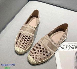 Y123B Últimas zapatillas de deporte de las mujeres zapatos zapatos zapatos de cáñamo de cáñamo diseño de diseño de alta calidad moda casual apagado floral bordado resbalón en loafer transpirable