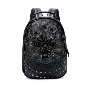Bags Wallet Backpack Hip Hop Punk 3d Relief Casual Cool Ape Tarzan Waterproof Versatile Bag