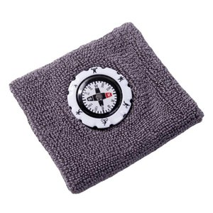 Outdoor Gadgets Compass Wristband Sports Sweat-Absorbent Cotton Camping Hiking Hunting Sweat Bands