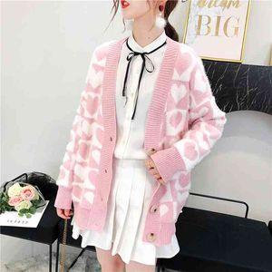 Default Heart Shirt Woman Cardigan Long Velvet Plus Size Mohair Pink Fuzzy Korean Bachelor Ladies Hot Undercoat