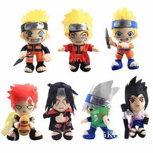 20cm Anime Naruto Toys Toys Cool Gaara Hatake Kakashi Uchiha Itachi Sasuke Muñecas de relleno suaves Softs Regalos de Navidad Juguetes para niños