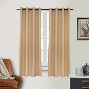 Curtain & Drapes Finished Curtains Dustproof Bedroom Lining Solid Color For El Home Good Sun Protection Yellow Grey Furniture Cover