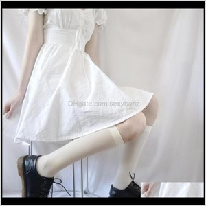 & Hosiery Underwear Apparel Drop Delivery 2021 Japan Veet Womens High Knee Socks Woman Lolita Long Leg Female Dress Sock Student Calcetines M
